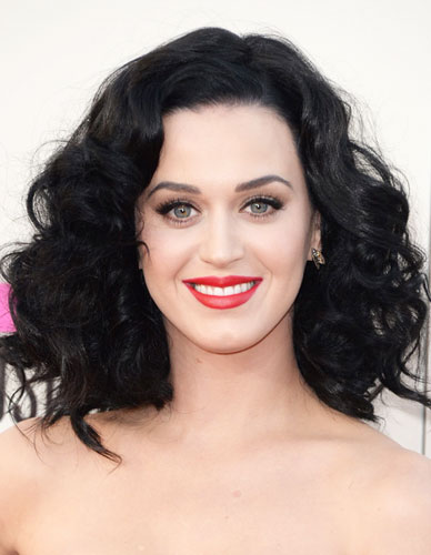 Katy Perry's Cute Big Curly Hair at the 2013 American Music Awards