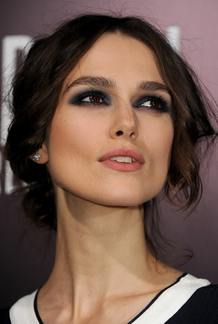 Keira Knightley's Central Parted Low Chignon
