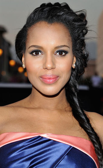 Kerry Washington's Posh Fishtail Braid Hairstyle