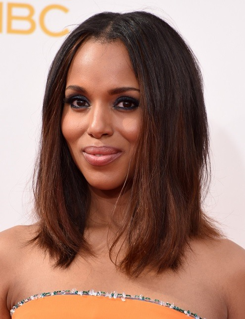 Kerry Washington's Blunt Bob At Emmy Awards 2014