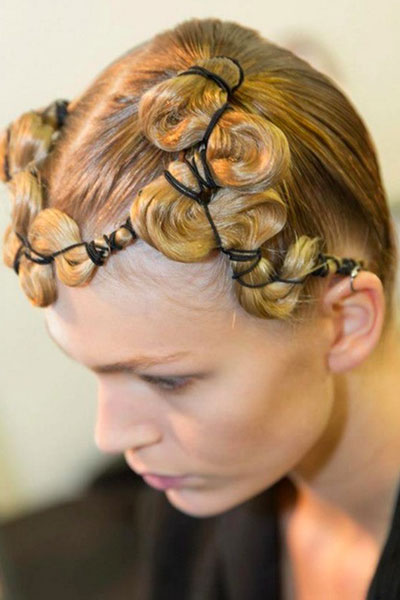 Quirky Quilted Updo Hairstyle
