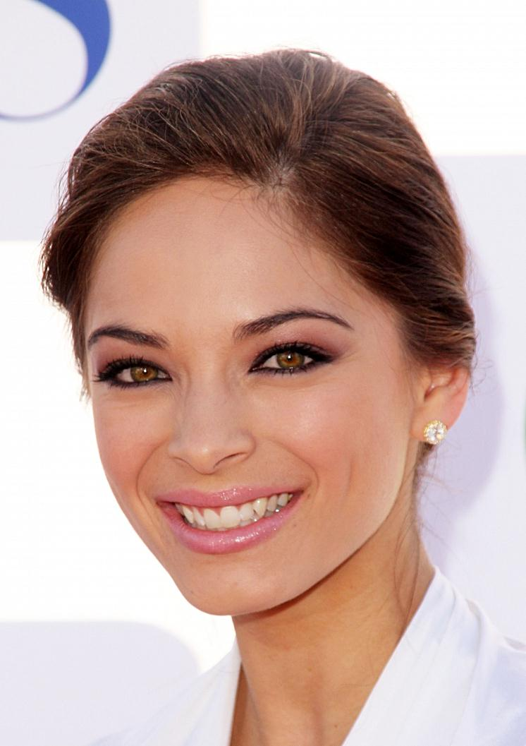 Kristin Kreuk's Classic Low Chignon Hairstyle