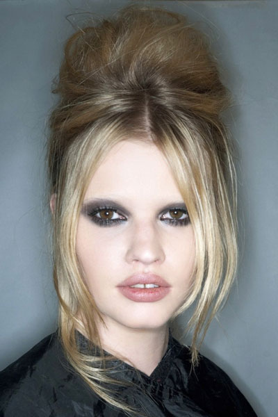Lara Stone S Vintage Bouffant Updo Prom Wedding Formal
