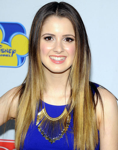Laura Marano's Simple Long Sleek Layered Ombre Hairstyle