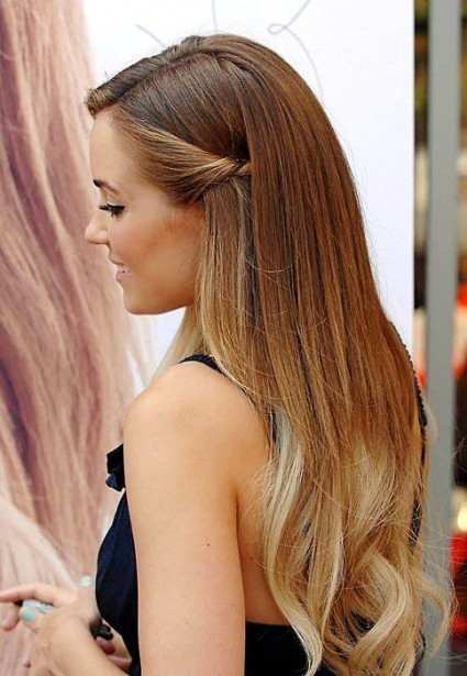Lauren Conrad Dainty Side Twist Ombre Hairstyle