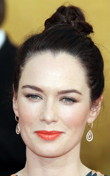 Lena Headey's Posh Braided High Bun Updo