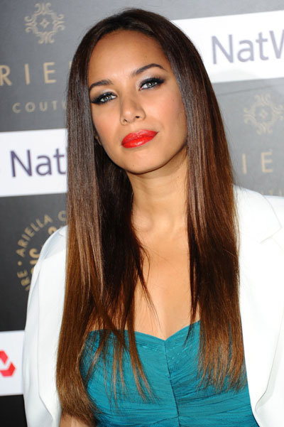 Leona Lewis' Elegant Long Straight Layered Hairstyle
