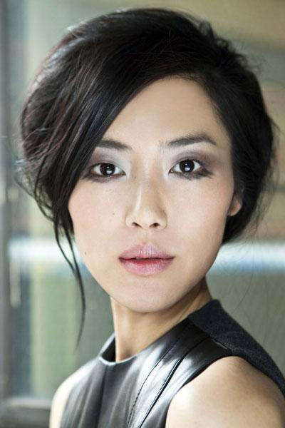 Liu Wen's Loose Bun Hairstyle