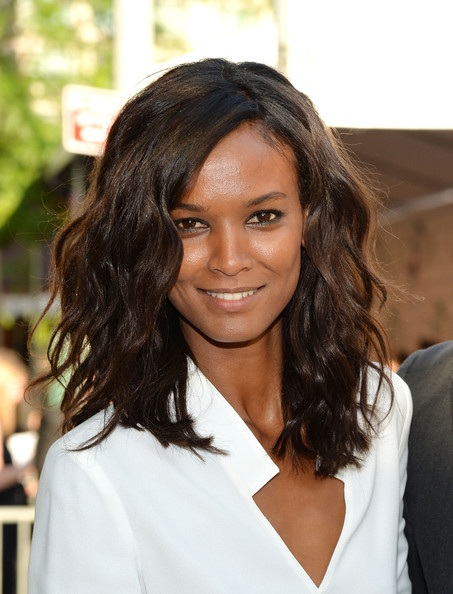 Liya Kebede's Beach Waves Style At CFDA Fashion Awards 2014