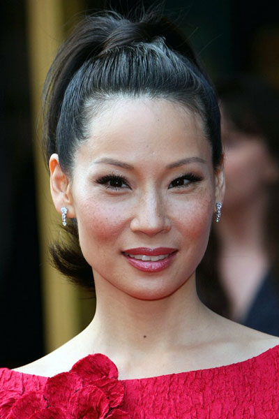 Lucy Liu's Cute High Ponytail Hairstyle