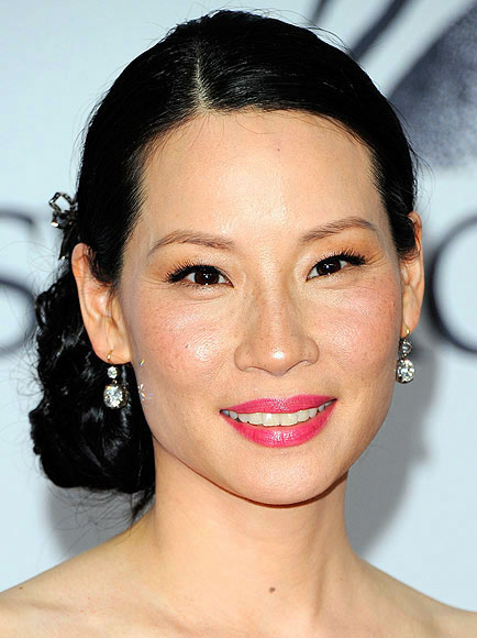 Lucy Liu's Elegant Side Chignon Hairstyle