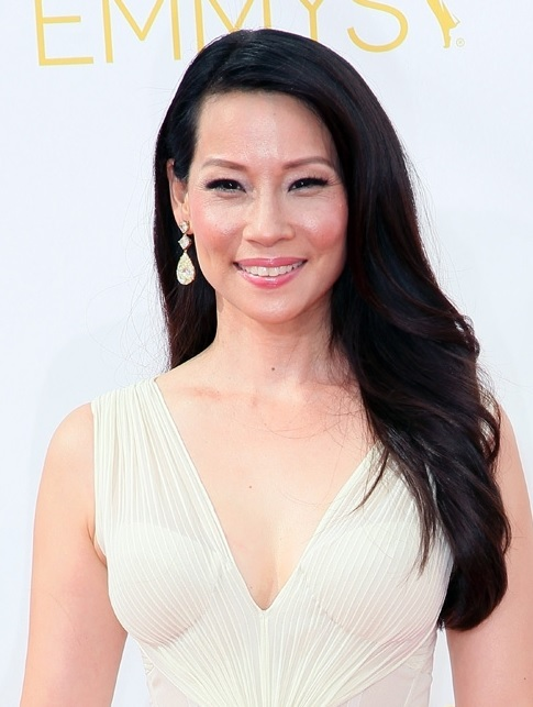 Lucy Liu's Side Swept Hairstyle At Emmy Awards 2014