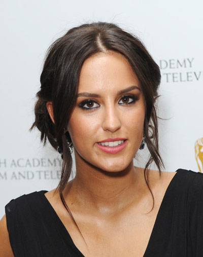 Lucy Watson's Casual Loose Chignon Hairstyle