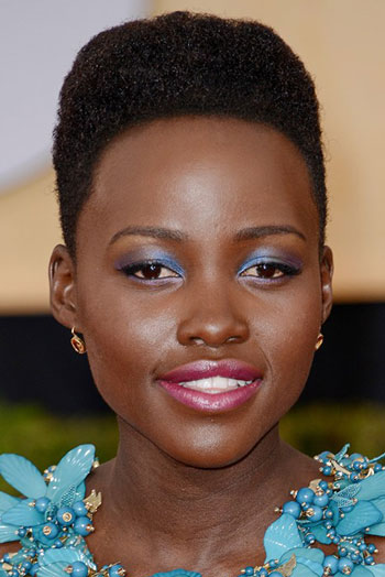 Lupita Nyong'o's Edgy Hi-Top Fade Hairstyle at the 2014 SAG Awards