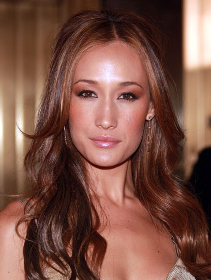 Maggie Q's Foxy Long Wavy Half Up Hairstyle