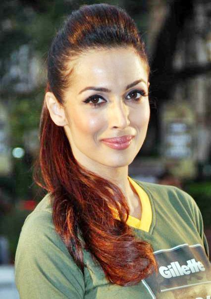 Malaika Arora Khan High Ponytail Hairstyle Prom