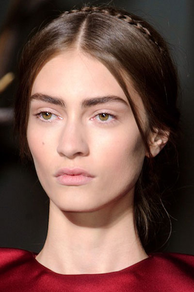 Marine Deleeuw's Posh Thin Milkmaid Braid Hairstyle