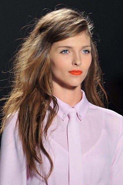 Sexy Bedhead Hairstyle at Marissa Webb Spring 2014 New York Fashion Week