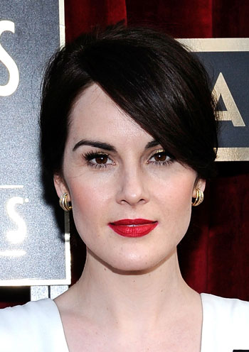Michelle Dockery's Casual Messy Ponytail at the 2014 SAG Awards