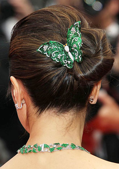 Michelle Yeoh's Stylish Knotted Bun Hairstyle at the 2013 Cannes Film Festival