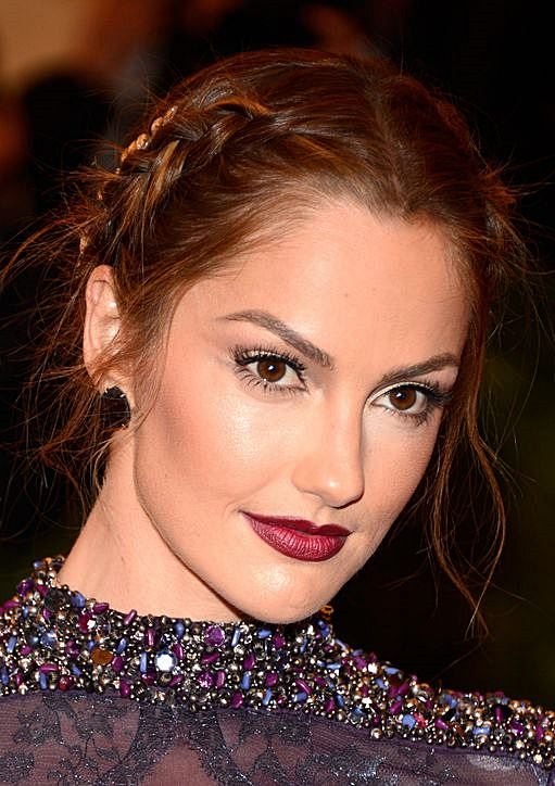 Minka Kelly's Messy Textured Braided Updo
