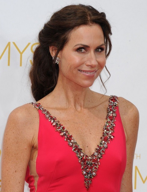 Minnie Driver's Half Up At Emmy Awards 2014