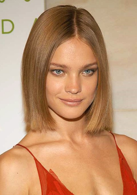 Natalia Vodianova's Blunt Bob For Women With Fine Hair