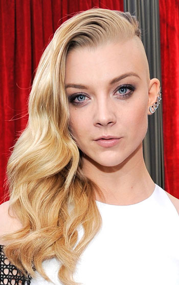 Natalie Dormer's Punk Half-Shaved Hairstyle at the 2014 SAG Awards