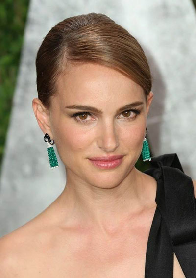 Natalie Portman's Sleek and Elegant French Twist Updo Hairstyle
