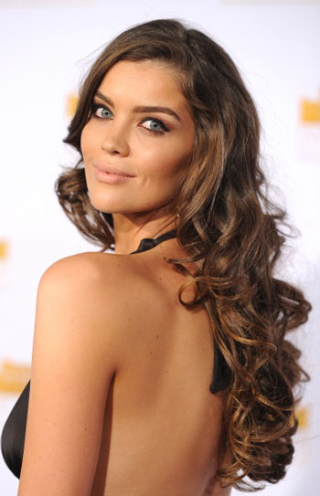 Natasha Barnard's Long Curly Hairstyle