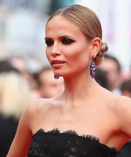 Natasha Poly S Sleek Chignon At Cannes 2014 Wedding Formal Awards Evening Careforhair Co Uk