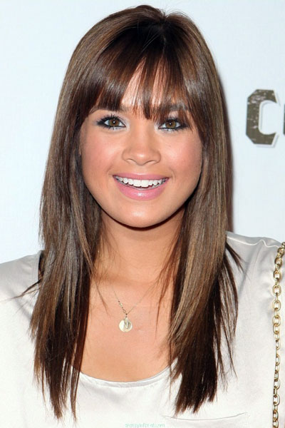 Layered Straight Across Bangs Bangs that are cut straight