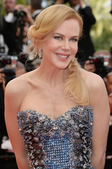 Nicole Kidman's Loose Braided Side Ponytail At Cannes 2014