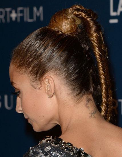 Nicole Richie's Cool Fishtail Braid Ponytail