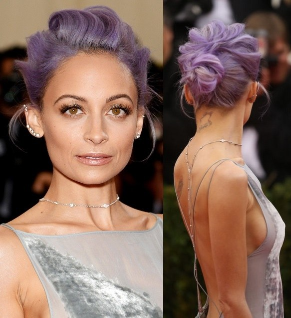 Nicole Richie's Purple Hairdo At Met Ball 2014