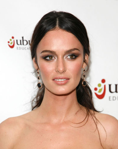 Nicole Trunfio's Charming Messy Low Ponytail Hairstyle