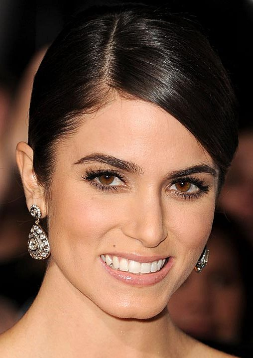 Nikki Reed's Simple And Sleek Low Bun Hairstyle