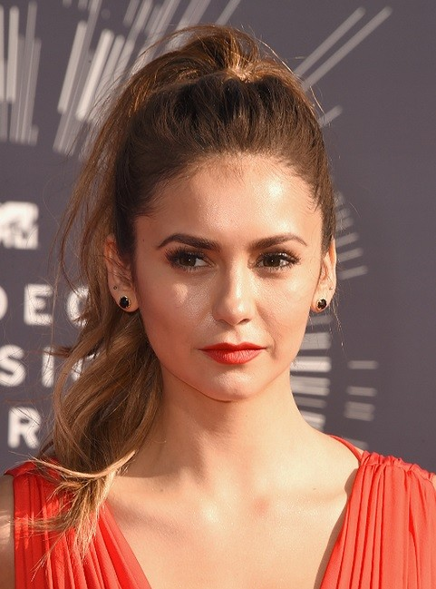 Nina Dobrev's High Ponytail At VMA 2014