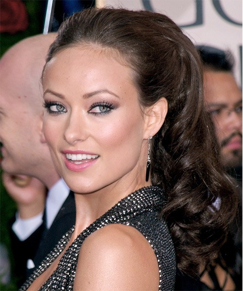 Olivia Wildes Curly Faux Ponytail Updo