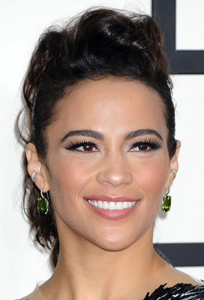 Paula Patton's Edgy Faux Hawk Updo at the 2014 Grammy Awards