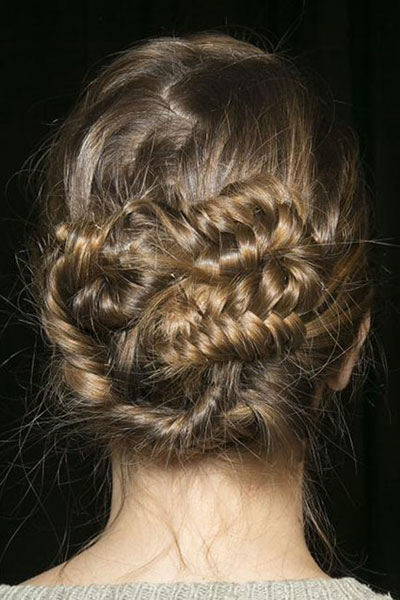 Edgy Texturized Braided Updo