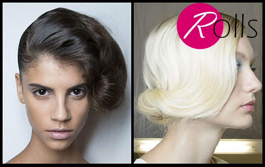 Pin up modern twisted roll hairstyle for spring 2014