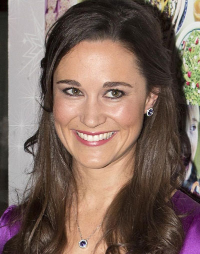 Pippa Middleton Sophisticated Pseudo Half Up Hairstyle