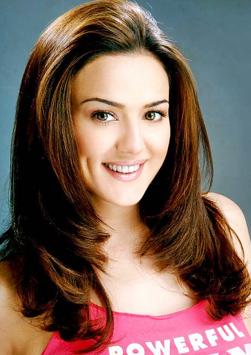 Preity Zinta S Long Layered Hairstyle Casual Party