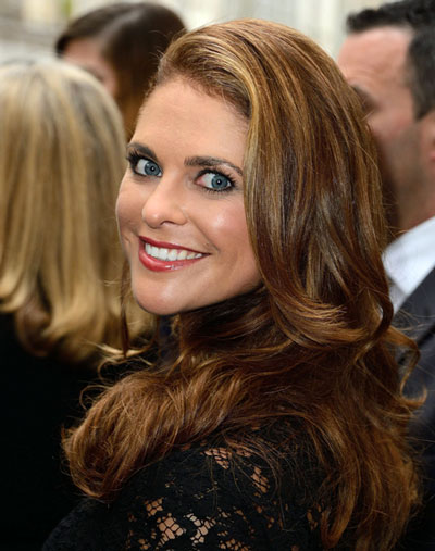 Princess Madeleine's Gorgeous Long Wavy Hairstyle