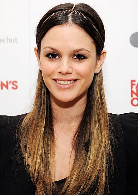 Rachel Bilson's Bohemian Chic Half Up, Half Down Hairstyle With Skinny Headband