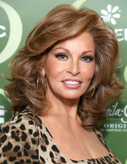 Raquel Welch's Sexy Bouffant Medium Hairstyle