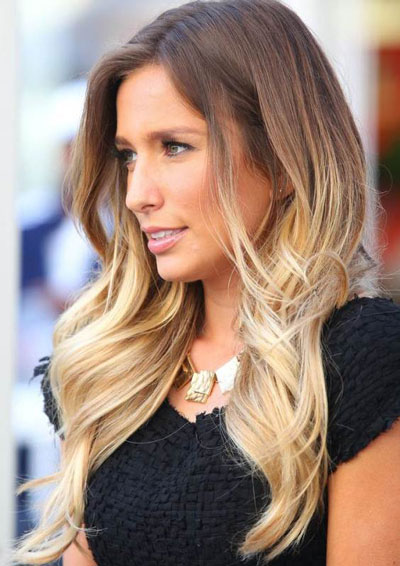 Renee Bargh's Beautiful Ombre Long Wavy Hairstyle