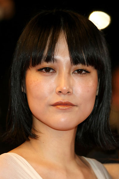 Rinko Kikuchi S Blunt Bob With Bangs Casual Everyday