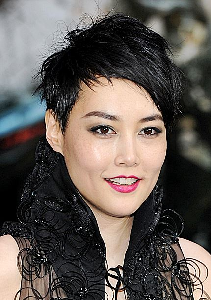 Rinko Kikuchi S Choppy Short Hairstyle Casual Party Summer Careforhair Co Uk